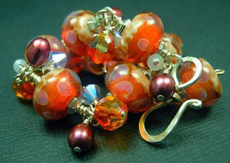 5 Fish Designs - Handmade Fine Jewelry Lampwork & Sterling Silver Bracelets