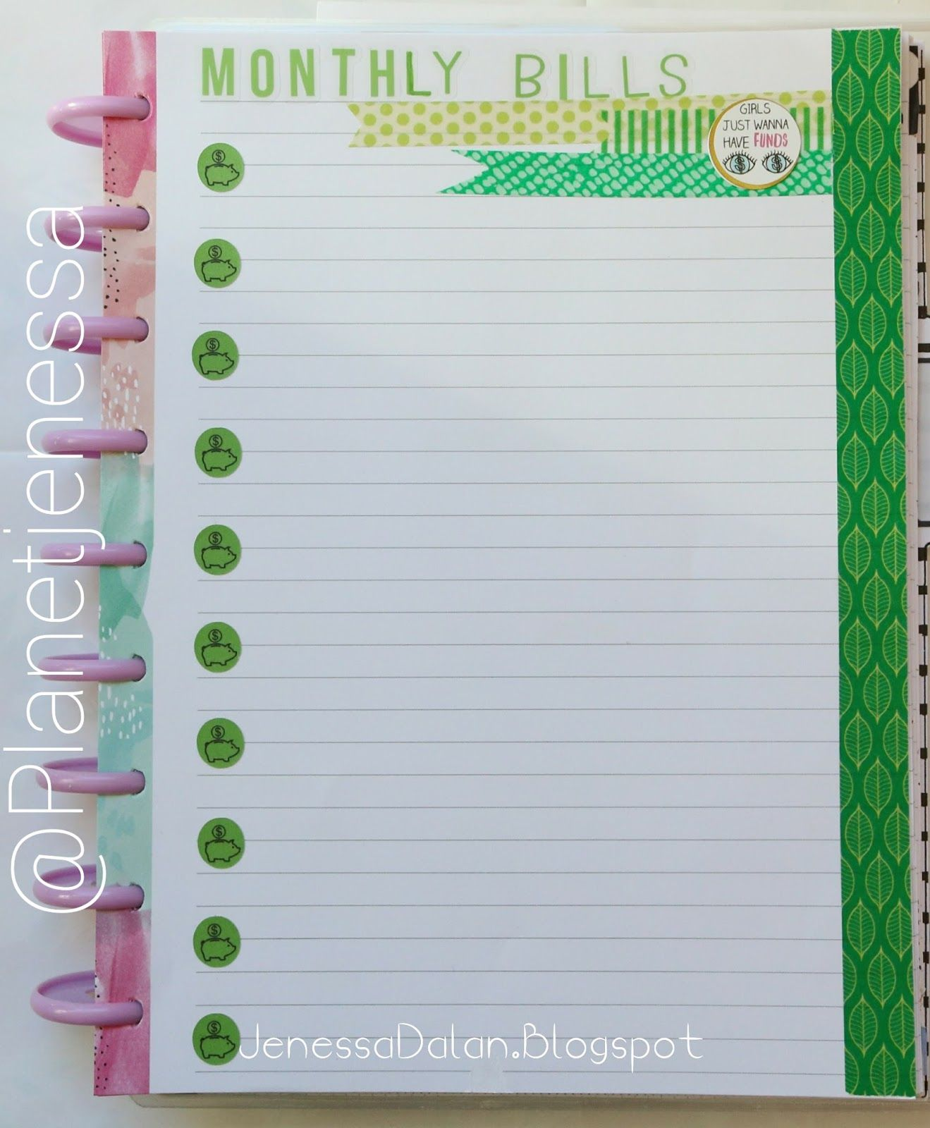 budget planner for your planner fun creative notes list ideas