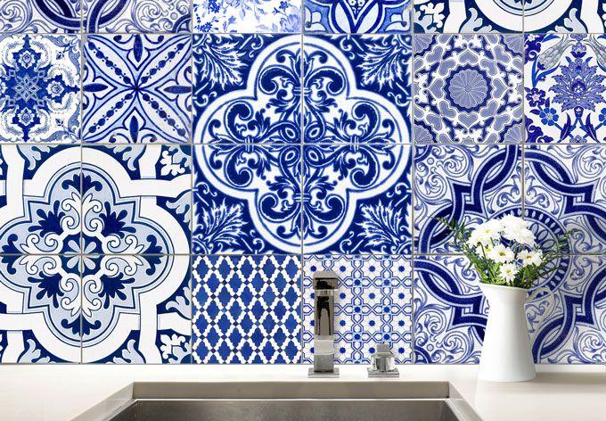 Azulejos portugais - stickers pour carrelage pour la déco de la - quel carrelage pour une cuisine