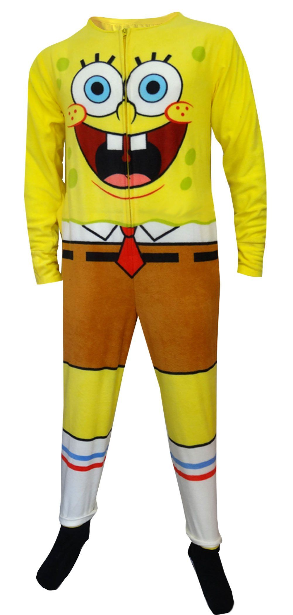 8eeced75be Amazon.com  SpongeBob Squarepants Adult Onesie Pajama for men  Clothing