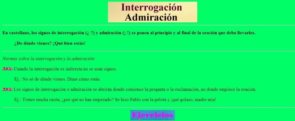 Uso De La Interrogación Y La Exclamación Signos De Puntuacion Signos Signo De Interrogación