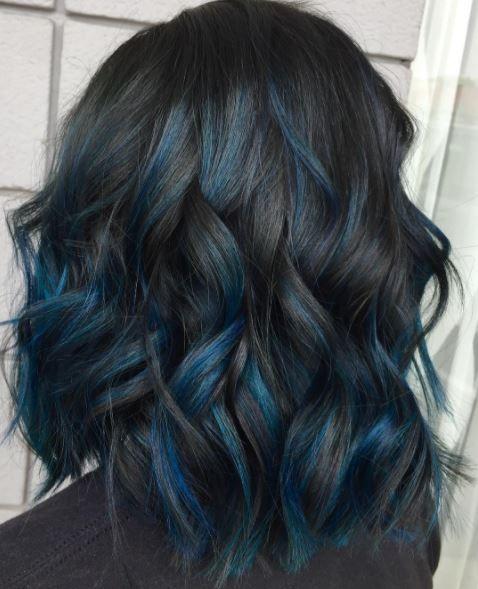 47 Fotos de Cabelo azul: Passo a passo para pintar em casa   Toda Atual #cabelos