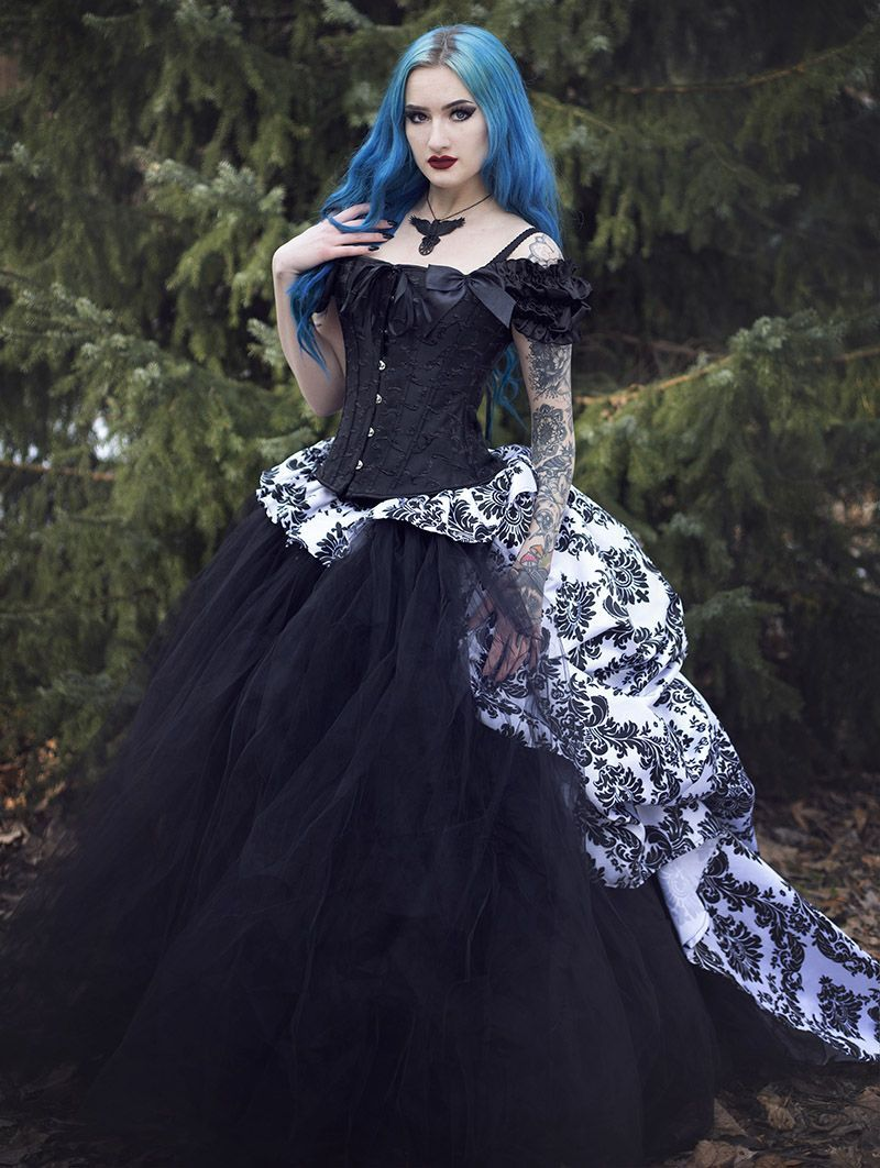 94ffe1922576 Romantic Gothic Corset Victorian Style Long Prom Gown - Devilnight.co.uk