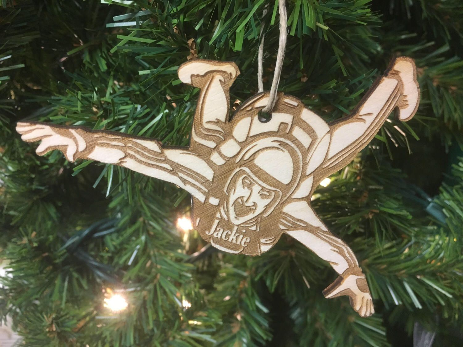 Skydiving #2 Personalized Christmas Ornament | Christmas ...