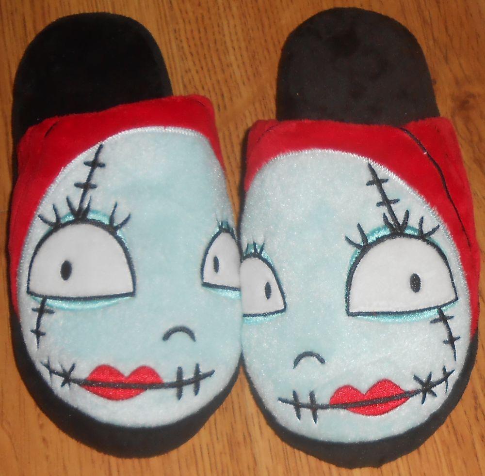 Disney Nightmare Before Christmas Sally House Slippers Halloween ...