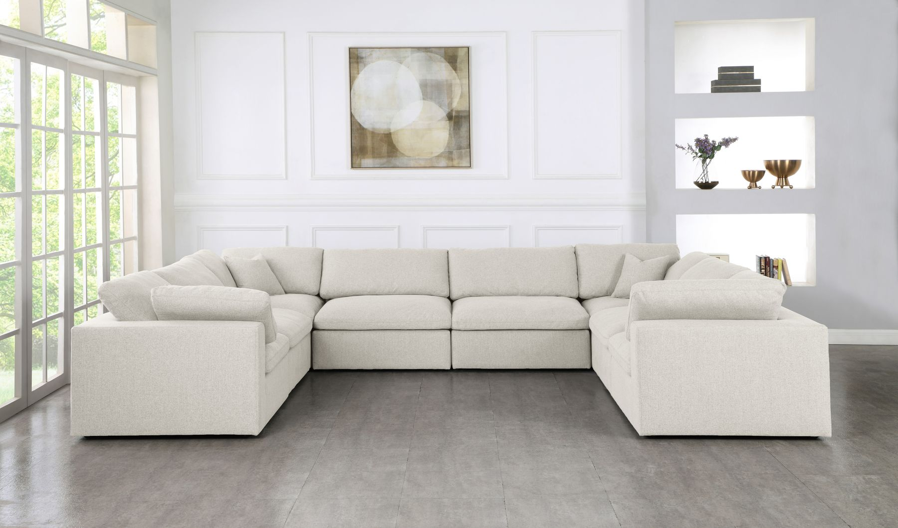 Serene 8a Cream Sectional Sofa In 2020