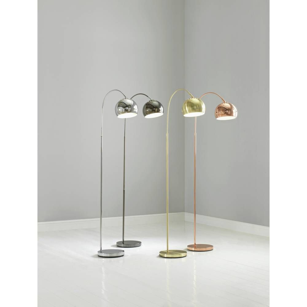 Buy Argos Home Curva Floor Lamp Brass | Floor lamps