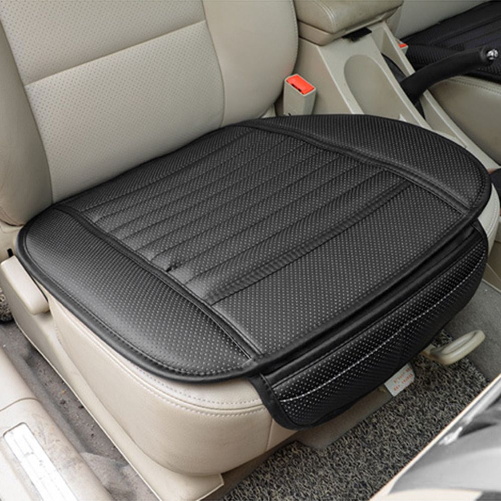1pc Breathable Bamboo Charcoal PU Leather Seat Cover Car Front Cushion Pad Mat