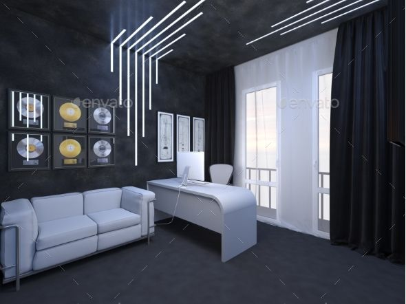 3D Render of Interior Design of an Office 3d, 3d background and 3d