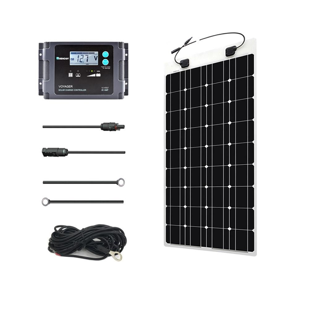 Renogy 100 Watt 12 Volt Off Grid Solar System Monocrystalline Solar Marine Kit Best Solar Panels Solar Panels Solar Energy Panels