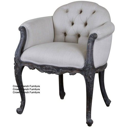 Upholstered Chairs Louis Upholstered Low Back Armchair French