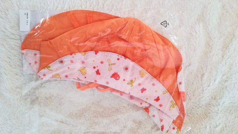 848e308193472 Réversible orange  petits animaux de la ferme. Tissu léger