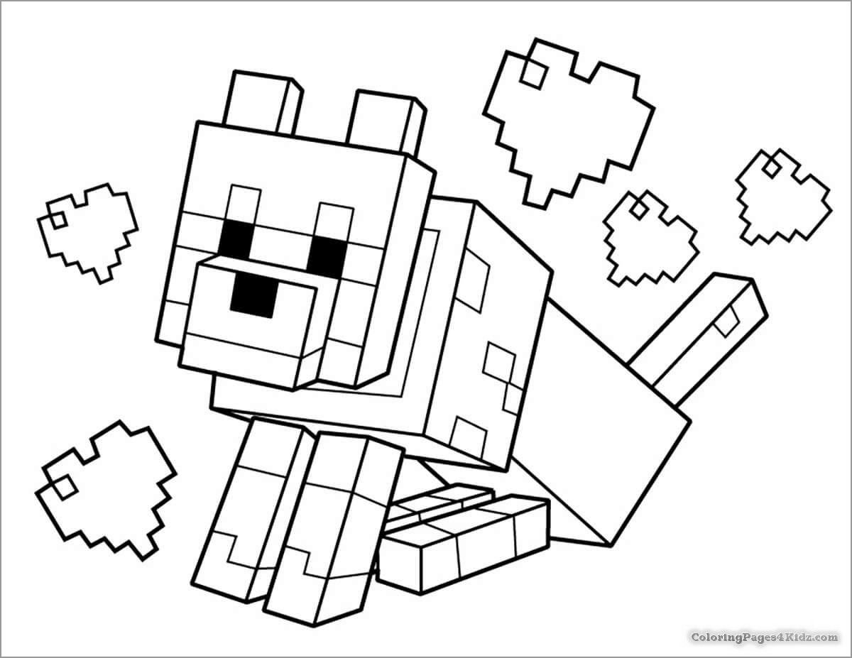 Minecraft Coloring Pages Dog In 2020 Lego Coloring Pages Minecraft Printables Lego Coloring