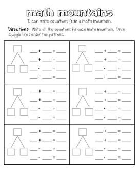Use This Template To Reinforce Addends And Sums With Addition And Subtraction Equations Teachers Can Write In N Math Expressions Math Addition Homeschool Math