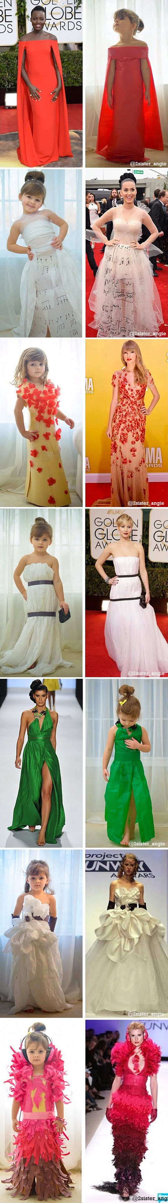 Mother Makes Paper Dresses For Her 4-Year-Old Daughter<<<the girl looks great in the dresses though