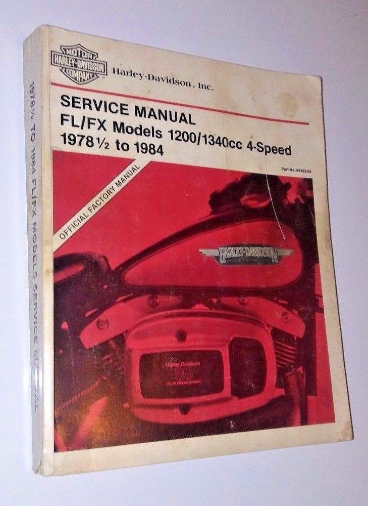 harley davidson service manual 1978 1984 shovelhead fl fx 1200 1340 rh pinterest com Shovelhead Motorcycles Shovelhead Engine