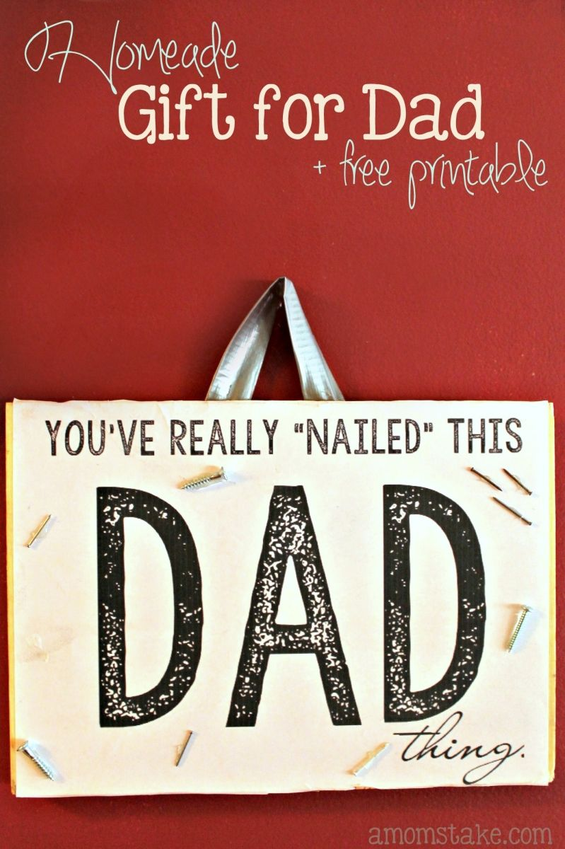 Dad youve nailed it homemade gift for dad printable crafts cute diy wooden sign is a perfect homemade gift for fathers day youve solutioingenieria Images