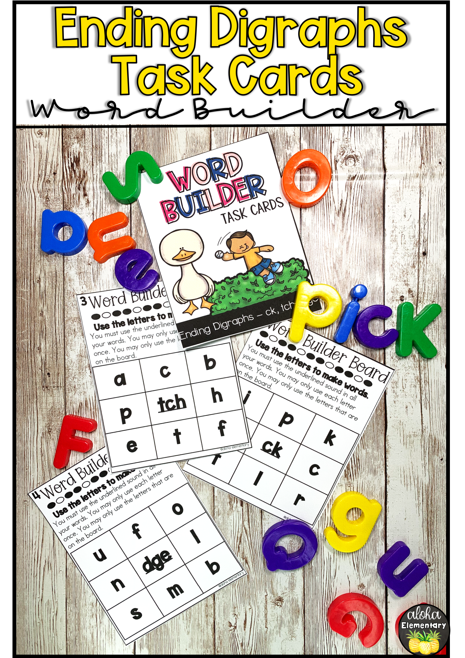 Ending Digraphs And Trigraphs Ck Tch Dge Word Building
