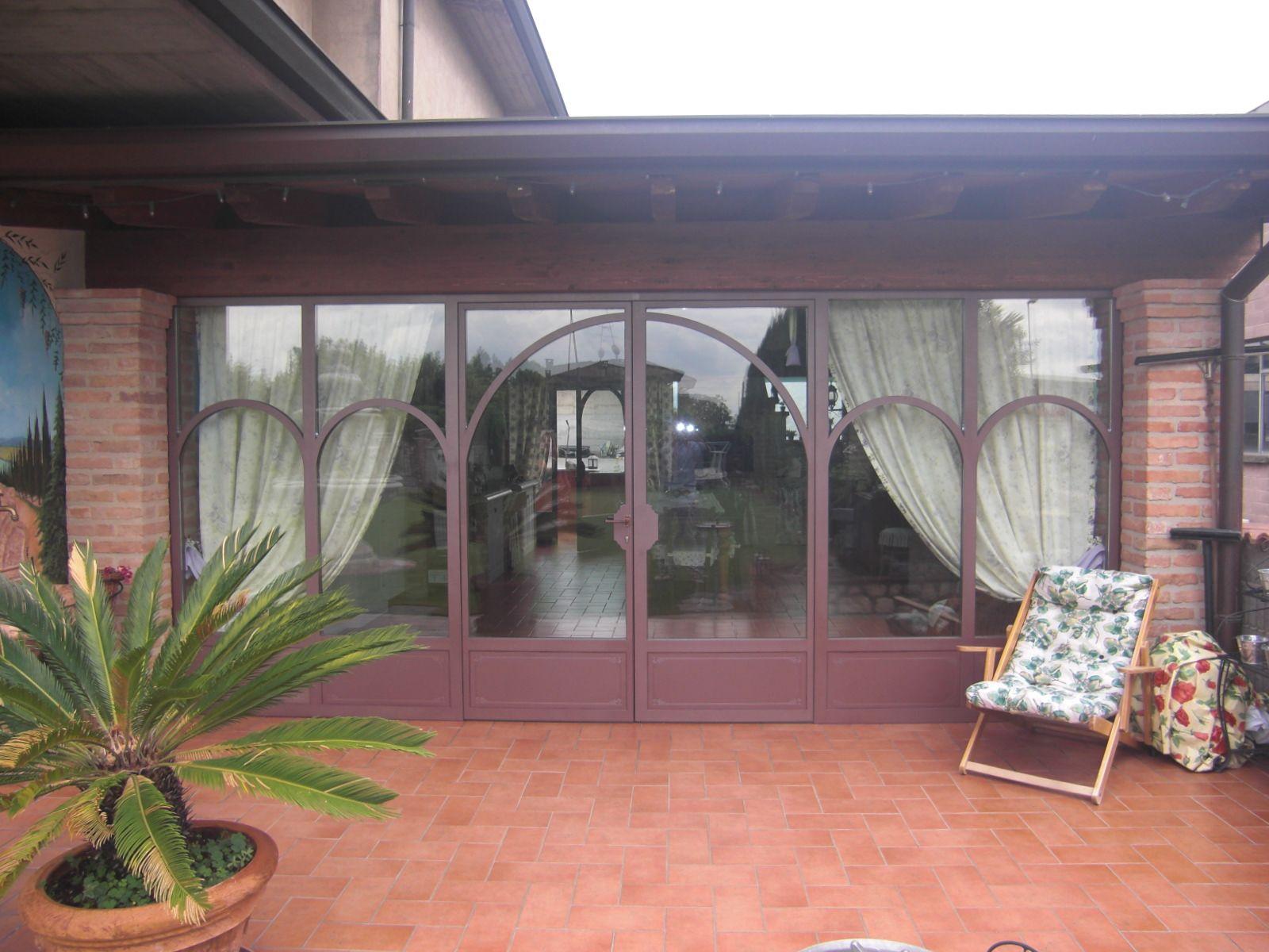 complementi di arredo veranda in ferro e vetro italian