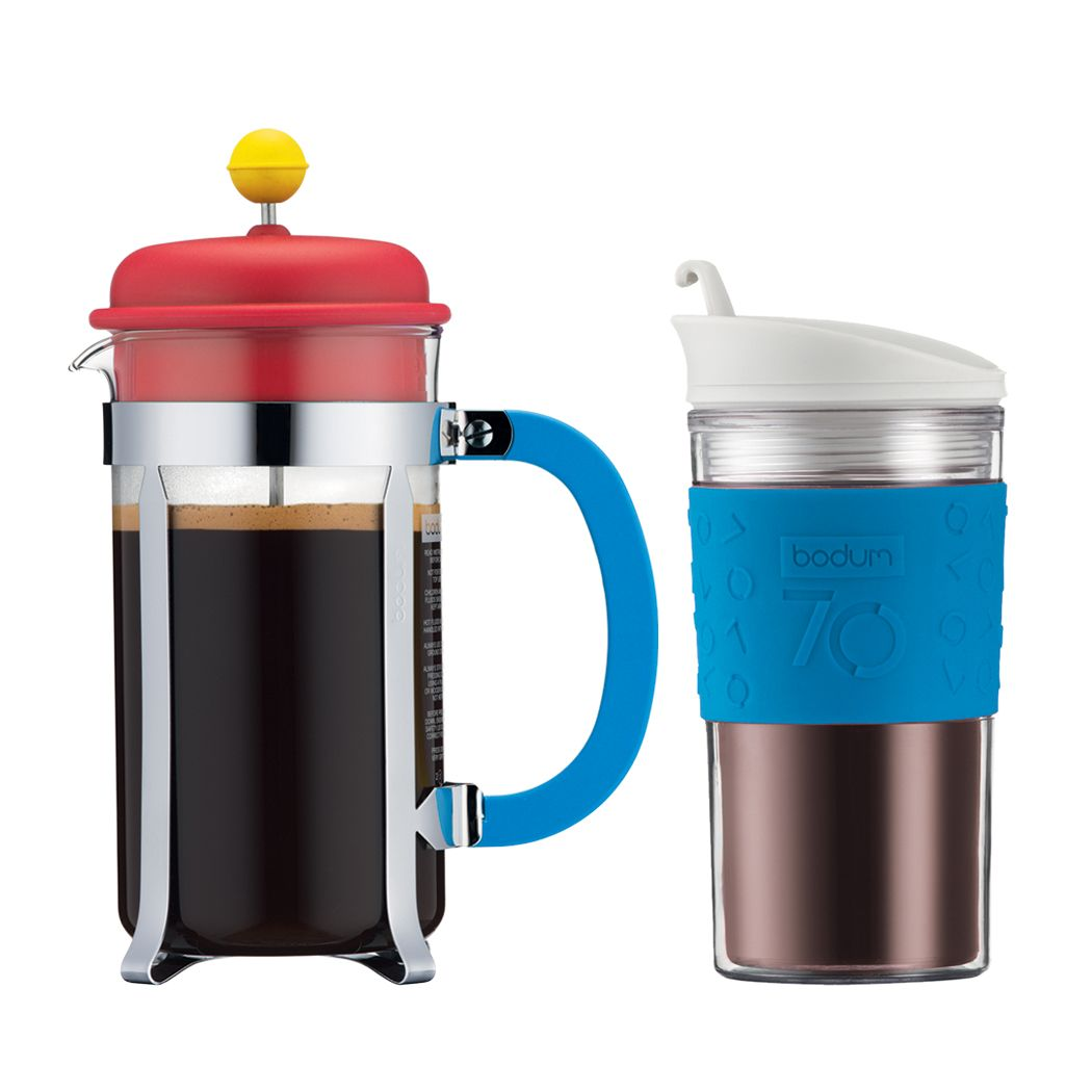 Bodum Tassen Bodum Limited Edition Multi Color French Coffee Press With Travel