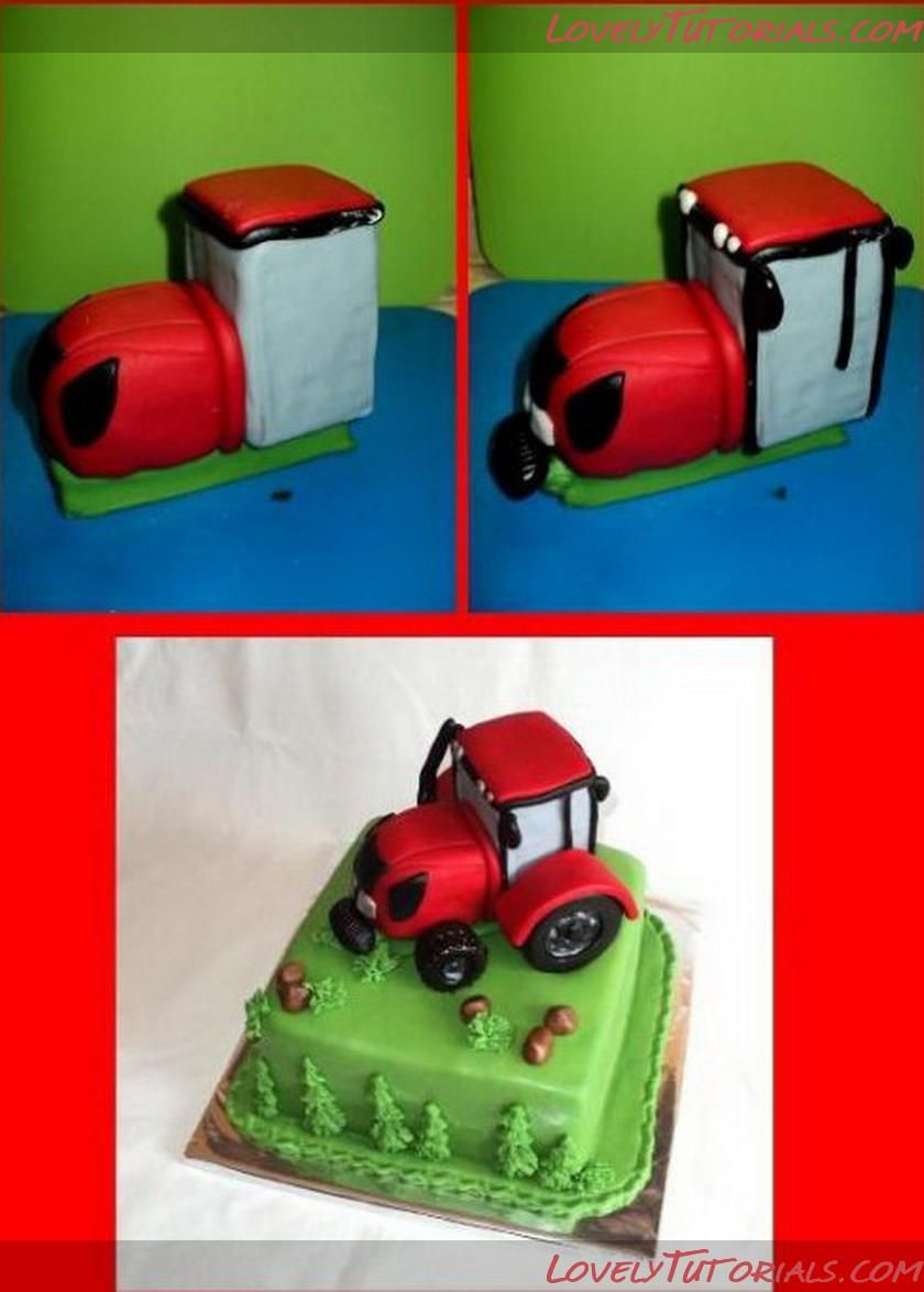 How to make a simple tractor cake ideas Pinterest Tractor