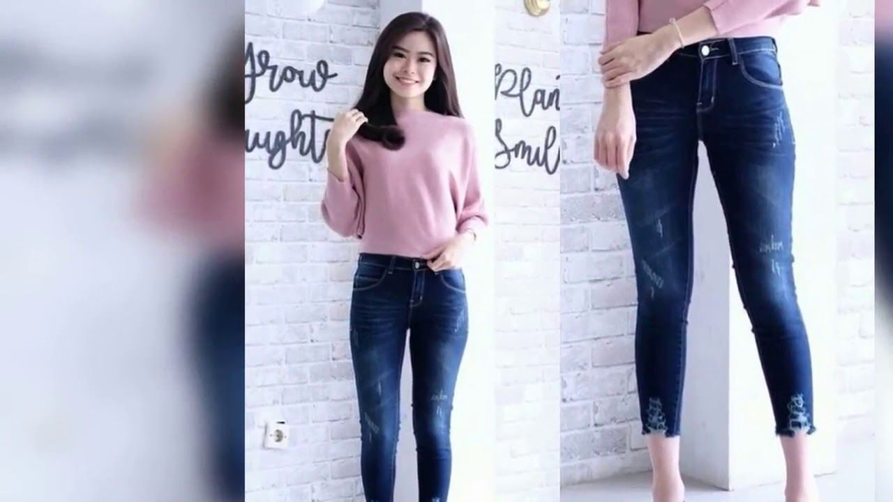 Celana Jeans Wanita Terbaru 2019 Chino Jeans Jeans Fashion