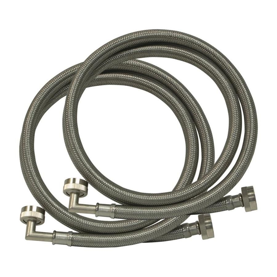 Eastman 6 Ft L 3 4 In Fht Inlet X 3 4 In Outlet Braided Stainless Steel Washing Machine Connector 48378 In 2020 With Images Stainless Steel Washing Machine Eastman Inlet
