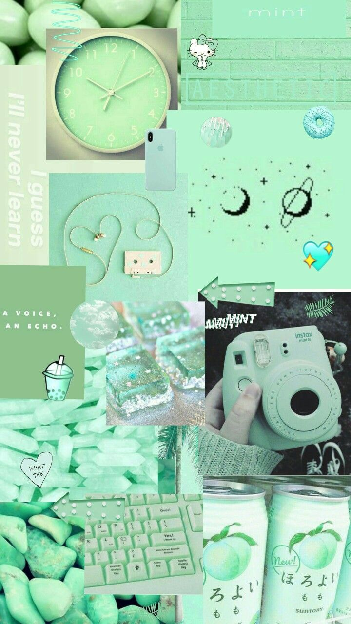 Mint Green Aesthetic Stickers
