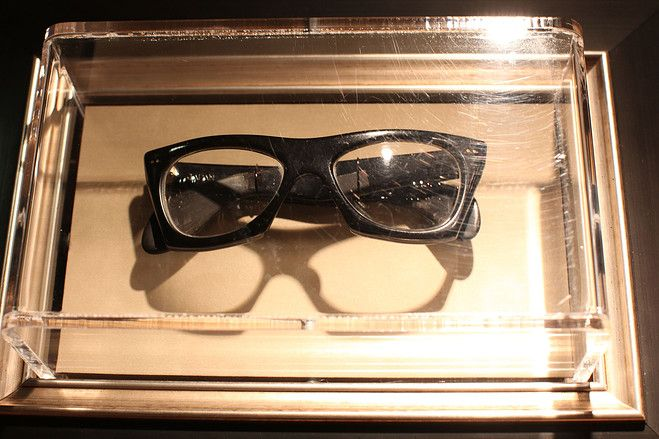 65f4f9ffe24 A pair of Buddy Holly s glasses on display at Hard Rock i New York City.