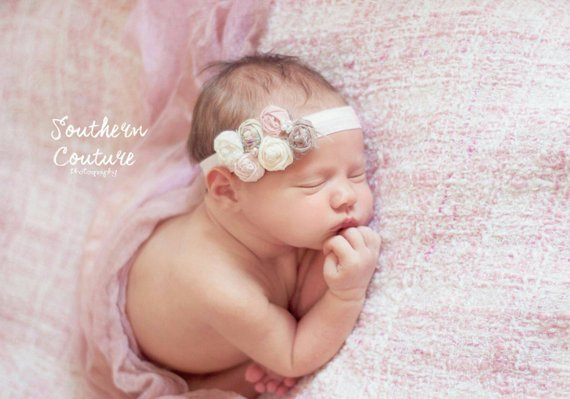 Blush pink vintage baby headband 819c54be49b