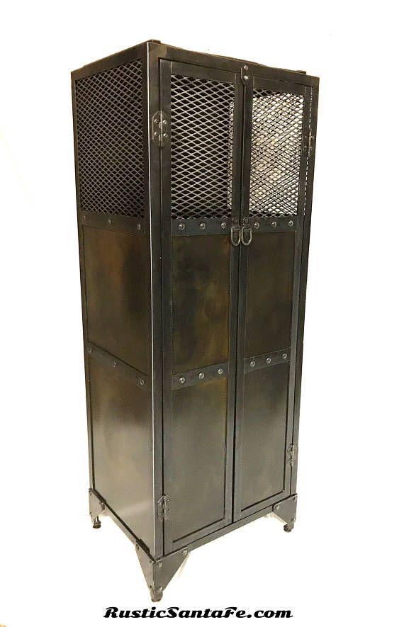 Industrial Floating Wine Cabinet Wine Locker Metal Liquor