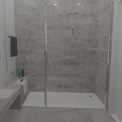Kleine badkamer inloopdouche google zoeken badkamer pinterest toilet granny flat and haus - Kleine betegelde badkamer ...