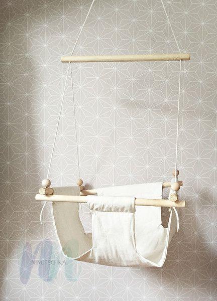 happy swing babyschaukel bio baumwolle  von // ninotschka: papeterie - collage - print - accessoires // auf DaWanda.com
