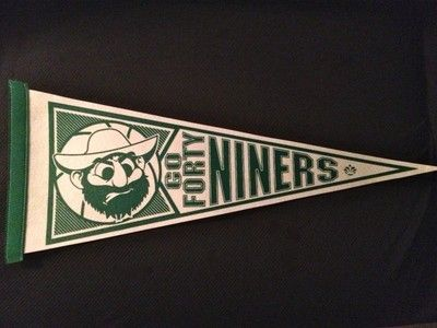 Unc Charlotte 49ers Forty Niners Uncc College Pennant With Norm