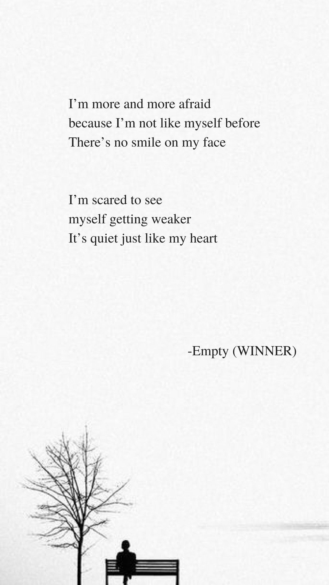 empty by winner lyrics song lyrics kpop quotes