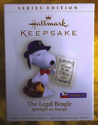 Hallmark 2006 Ornament Peanuts The Legal Beagle Lawyer Spotlight