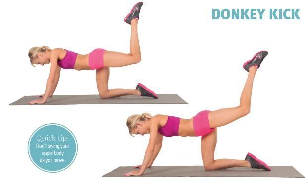 Image result for Donkey Kicks exercise