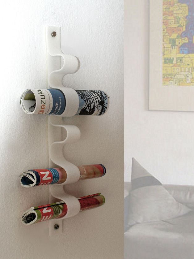 zeitschriftenhalter zeitungsst nder magazine rack via badezimmer pinterest. Black Bedroom Furniture Sets. Home Design Ideas