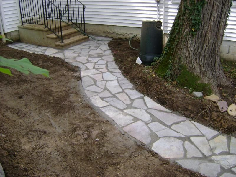 Flagstone Patios And Walkways : Weilbacher landscaping paver flagstone patios and