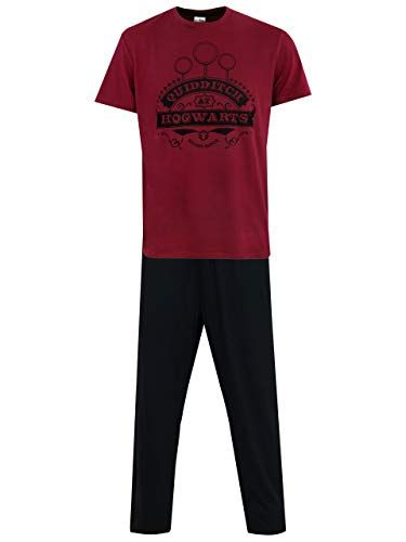 eb88fb99bf6e9 Harry Potter - Ensemble De Pyjamas - Quidditch - Homme - Noir - X-Large