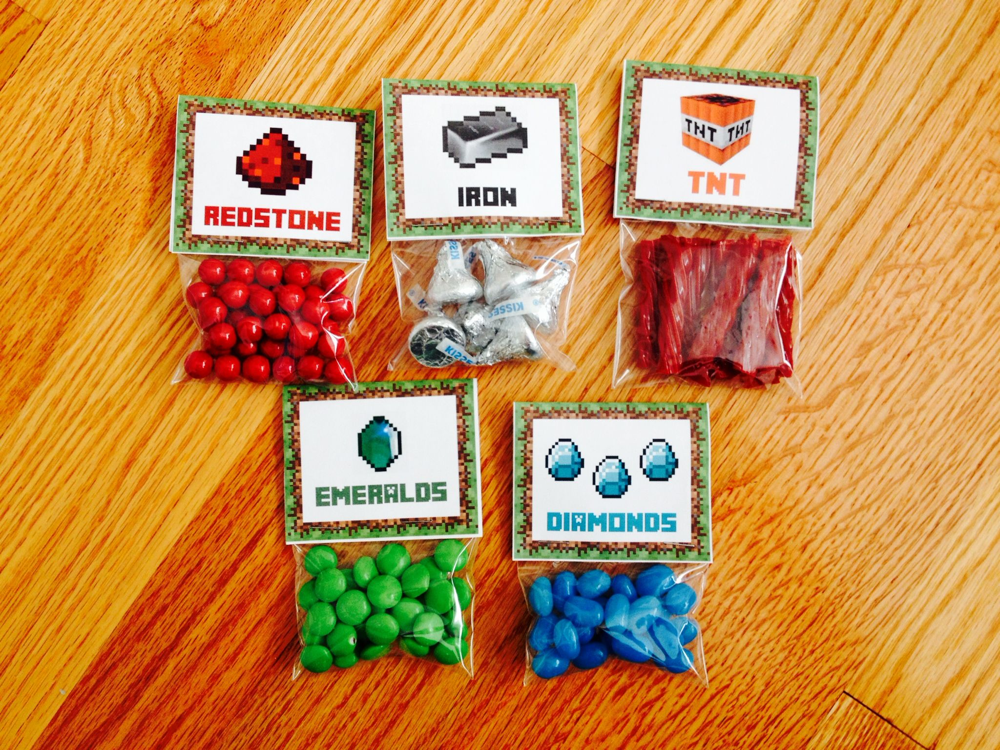 Pin By K A On Birthday Parties Minecraft Party Favors