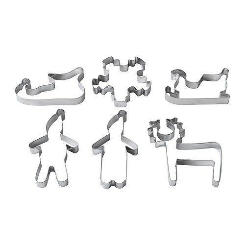 Ikea Snodriva Cookie Cutters Want Santa Baby Christmas Cookie