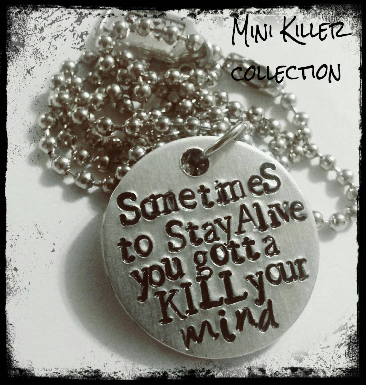 62a5fb442a772 Twenty one pilots inspired lyrics necklace - Blurry Face - Josh Dun - Tyler  Joseph by KillerBling on Etsy (null)