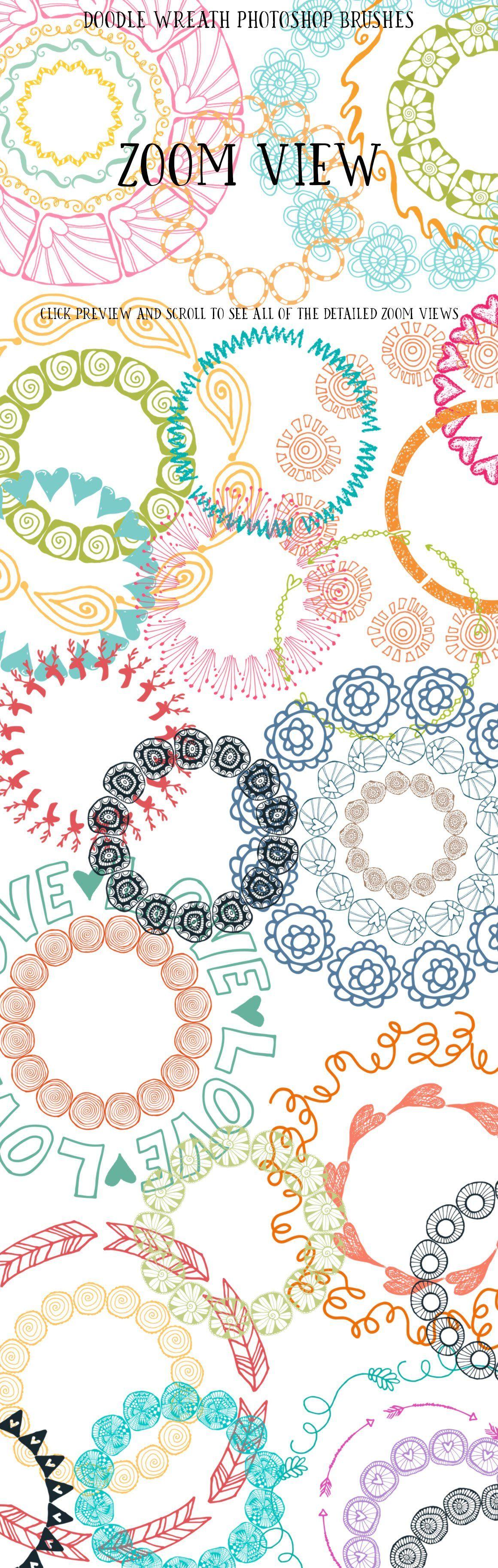 Photo of 90 Doodle Wreath Photoshop Brushes Doodle#Brushes#Wreath #AD