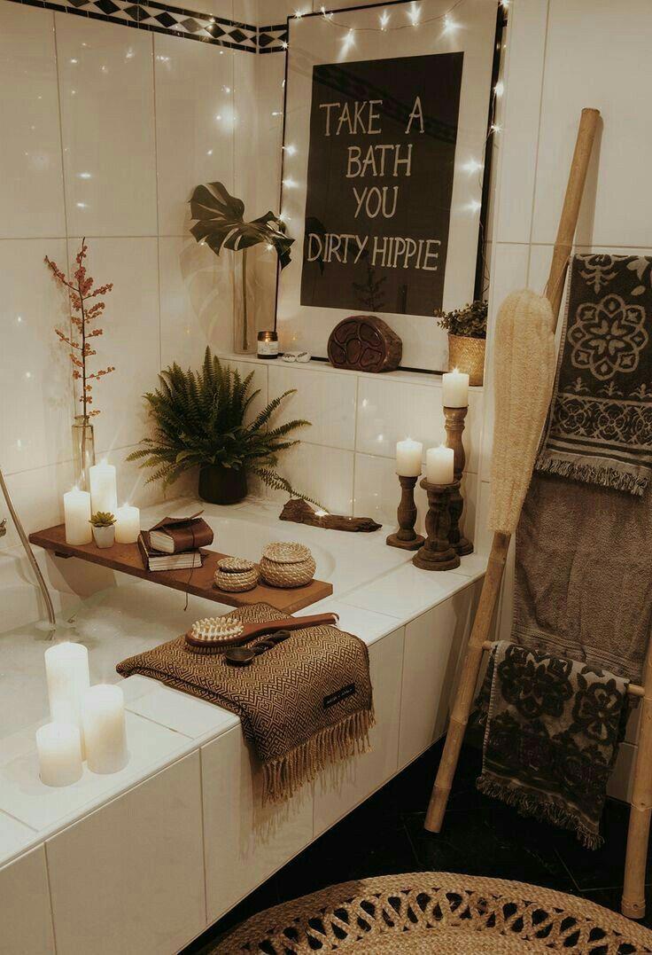 Badezimmer Wohnkultur, inspirierende Kunstdekor, gemütlich, minimalistisch Boho … #plantlife