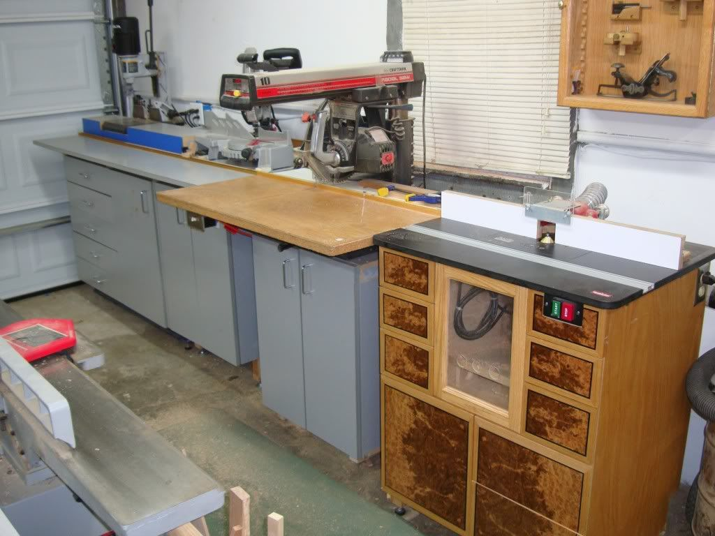Radial arm saw work station. - by s_grifter @ LumberJocks.com ...
