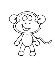 How To Draw Cartoons Monkey Drawings In 2019 Pinterest