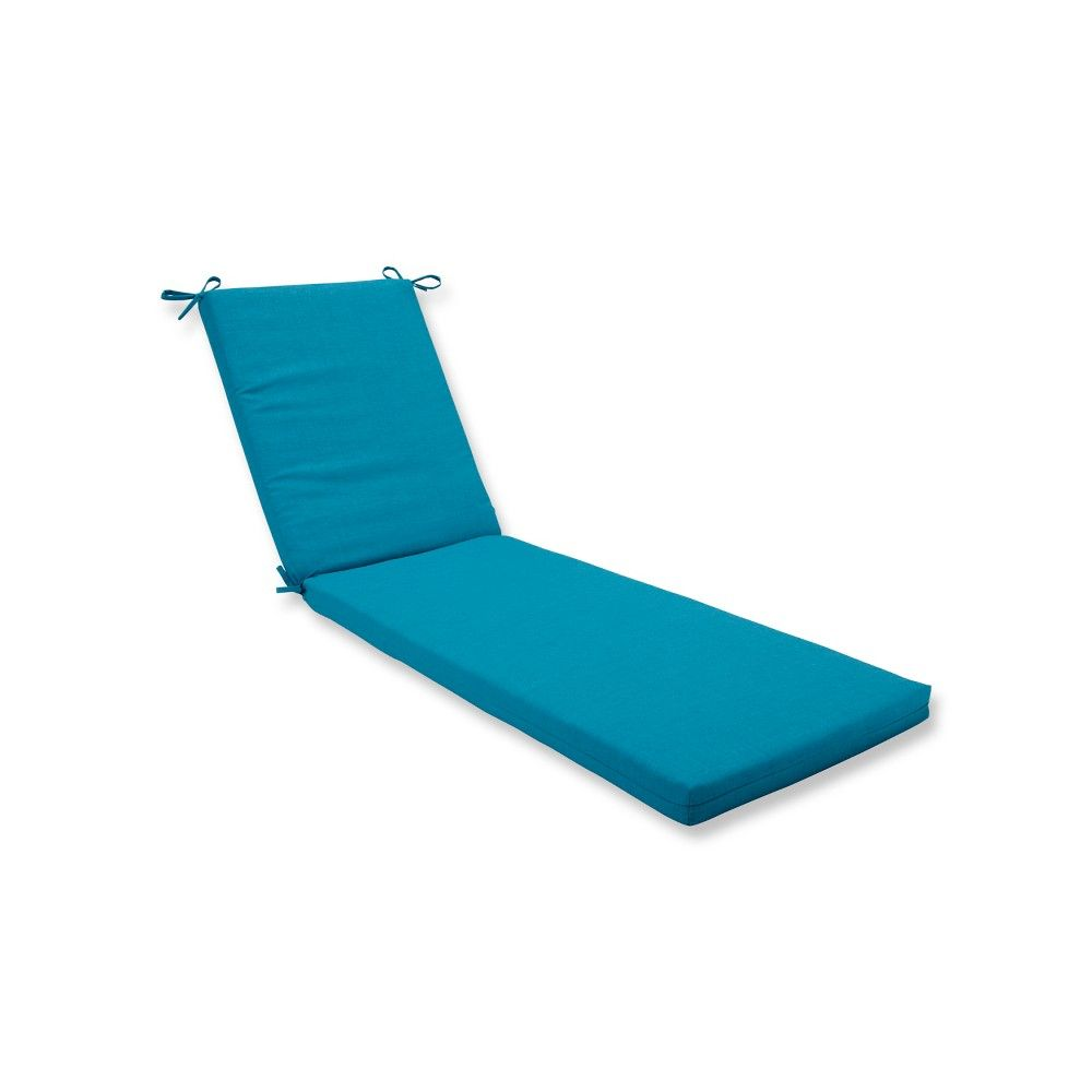 - Indoor/Outdoor Rave Peacock Blue Chaise Lounge Cushion - Pillow