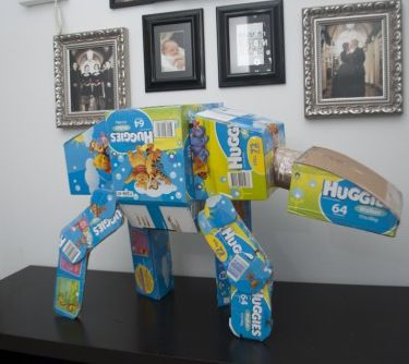 Star Wars Imperial Walker   Or 20 Things To Make Using Old Diaper Boxes.