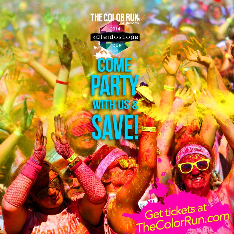 Hey Boston! Come party with us at The Color Run on October 12th! They are bringing their brand new Kaleidoscope Tour and you won't wanna miss it! Grab your friends and your tickets today! Use promo code: TCRBOSTON to get $5 off and some sweet swag!